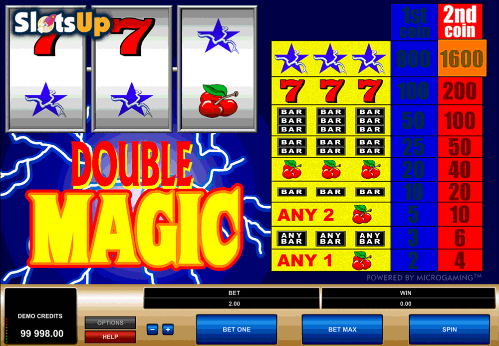 DOUBLE MAGIC MICROGAMING CASINO SLOTS