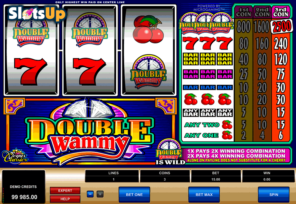 DOUBLE WAMMY MICROGAMING CASINO SLOTS