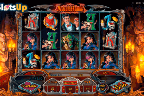 draculas family playson casino slots 480x320