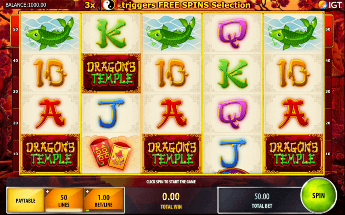 DRAGONS TEMPLE IGT CASINO SLOTS
