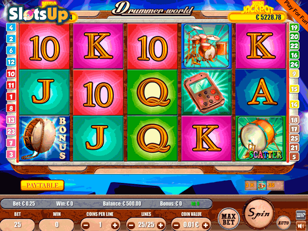 Drummer World Slot Machine - Play Online & Win Real Money