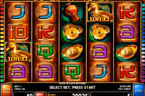 DUCK OF LUCK RETURNS CASINO TECHNOLOGY SLOT MACHINE