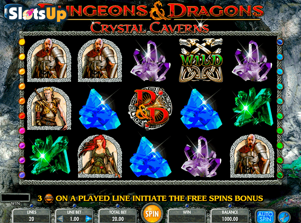 DUNGEONS AND DRAGONS CRYSTAL CAVERNS IGT CASINO SLOTS