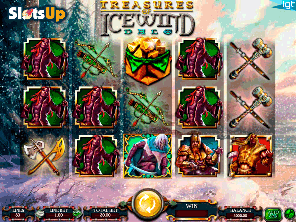 DUNGEONS AND DRAGONS TREASURES OF ICEWIND DALE IGT CASINO SLOTS
