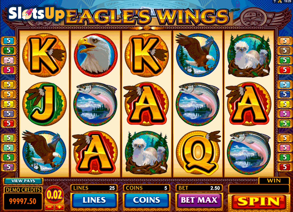 EAGLES WINGS MICROGAMING CASINO SLOTS