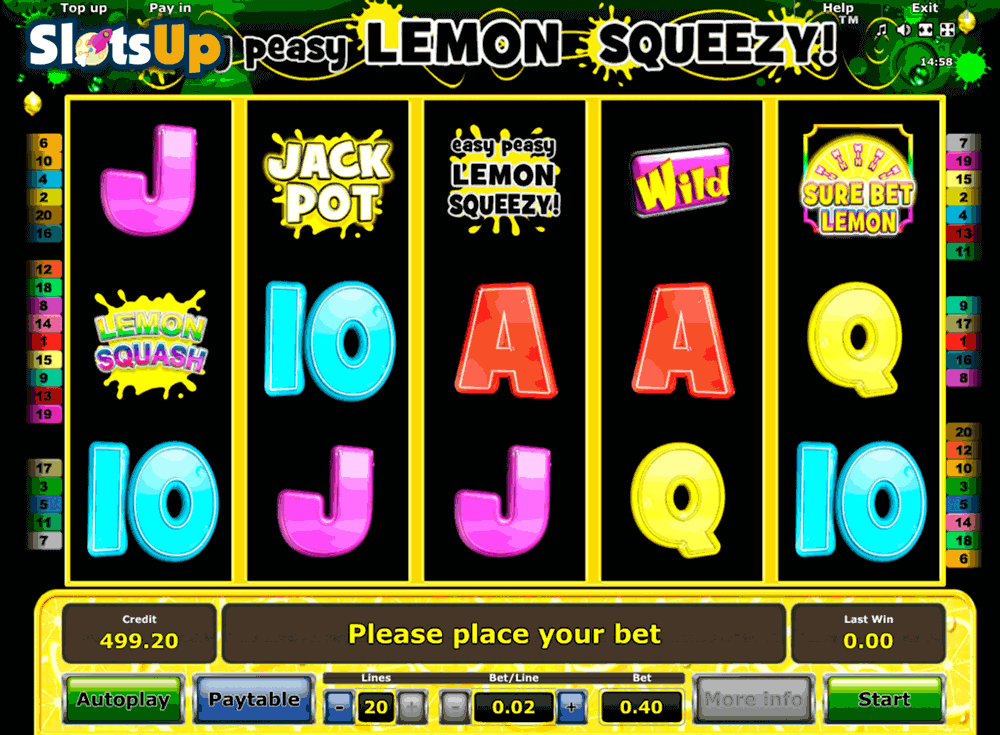 EASY PEASY LEMON SQUEEZY NOVOMATIC CASINO SLOTS