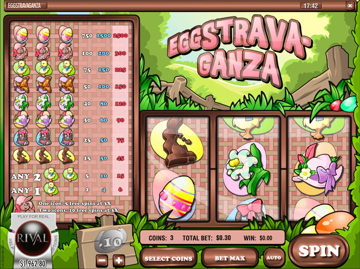 Eggstravaganza™ Slot Machine Game to Play Free in Rivals Online Casinos