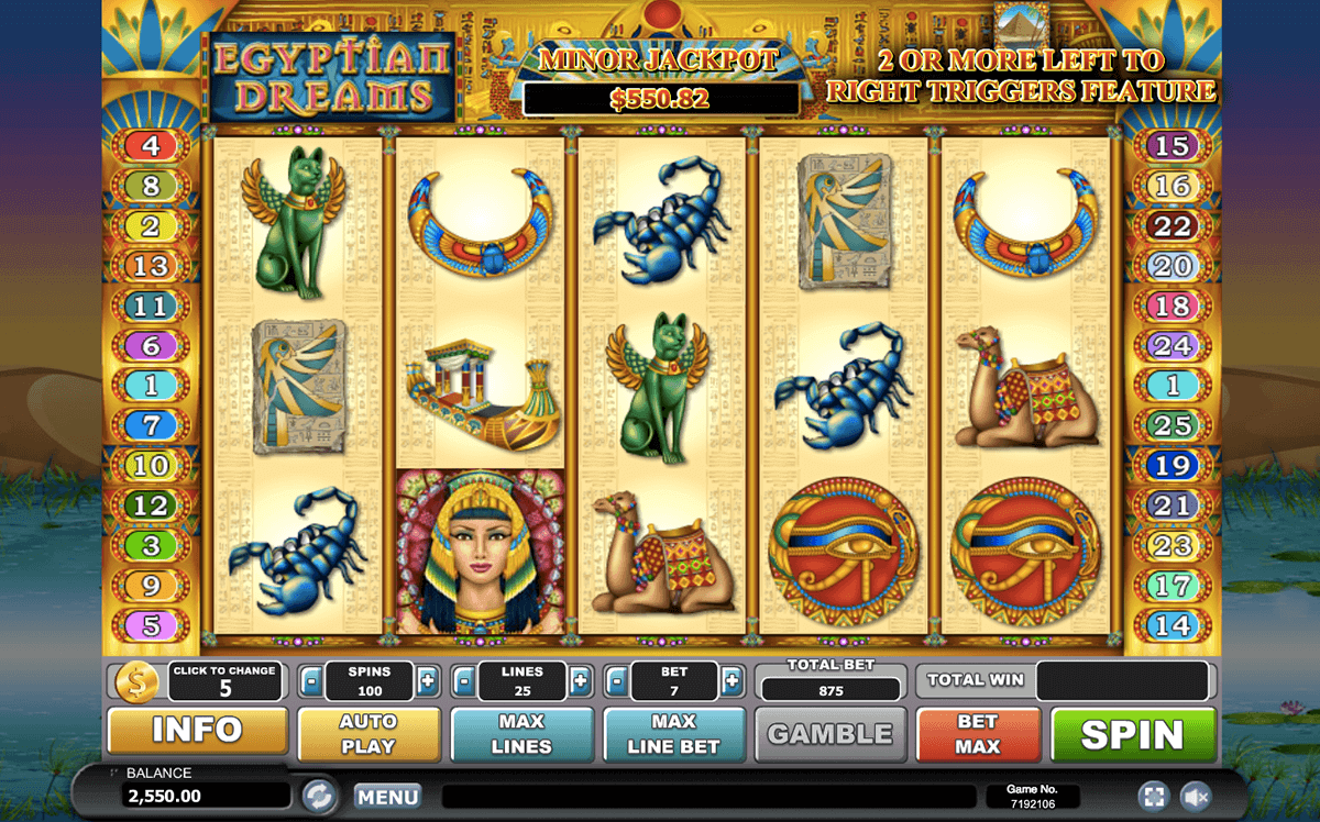 Egyptian Dreams Slots - Free to Play Online Demo Game