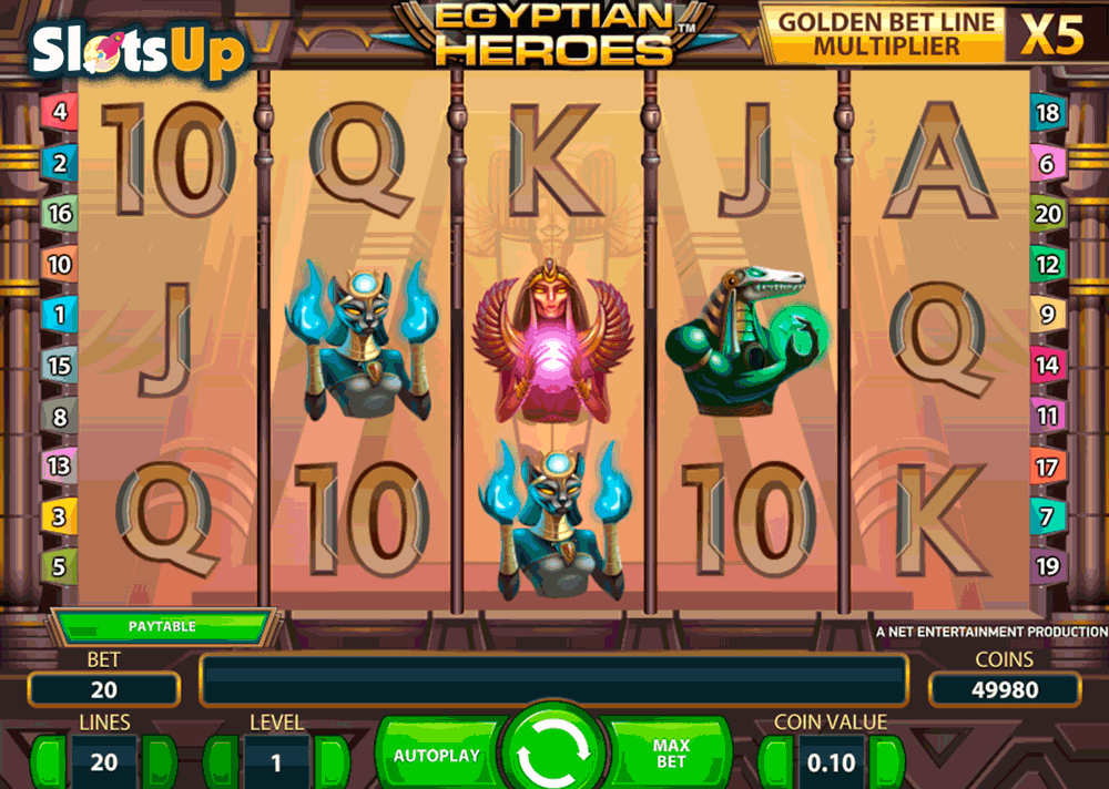 Egyptian Heroes Slot Machine - Play Free Casino Slots Online