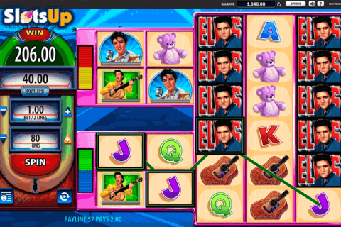 elvis the king lives wms casino slots 480x320