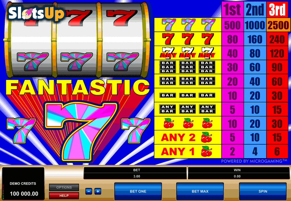 Stormin 7s Slot Machine - Play it for Free Online