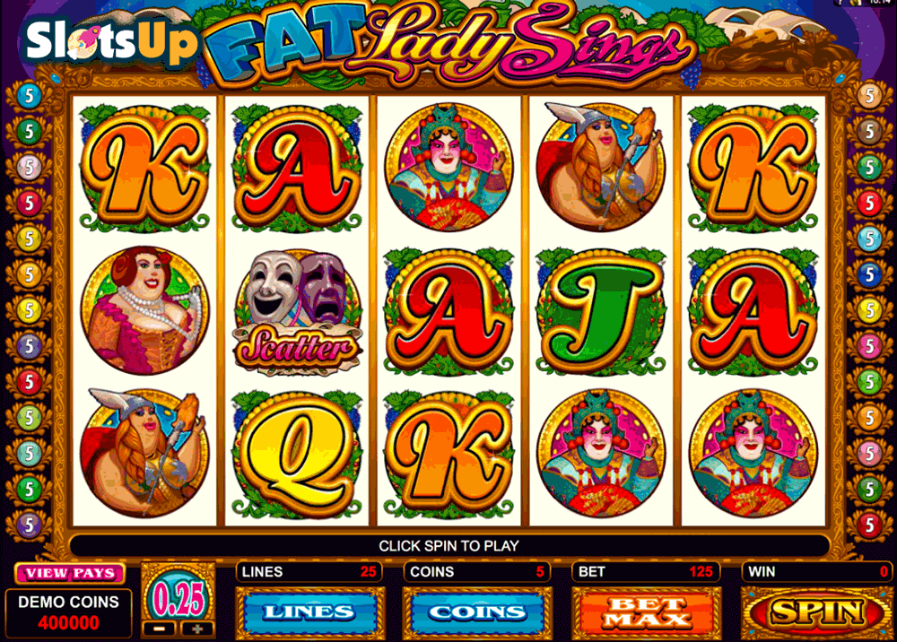 FAT LADY SINGS MICROGAMING CASINO SLOTS