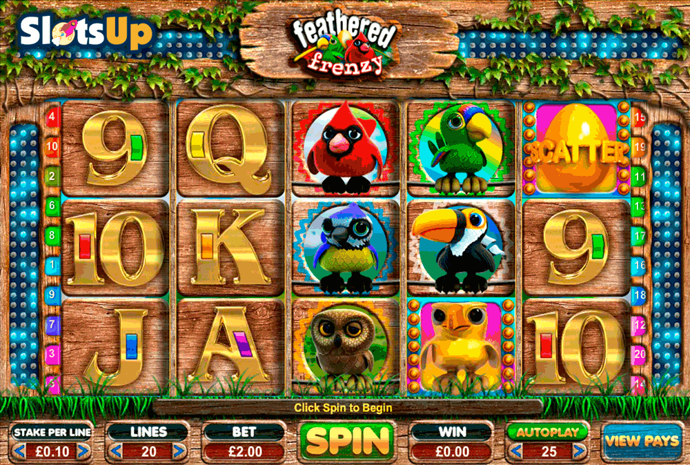 Feathered Frenzy™ Slot Machine Game to Play Free in Big Time Gamings Online Casinos