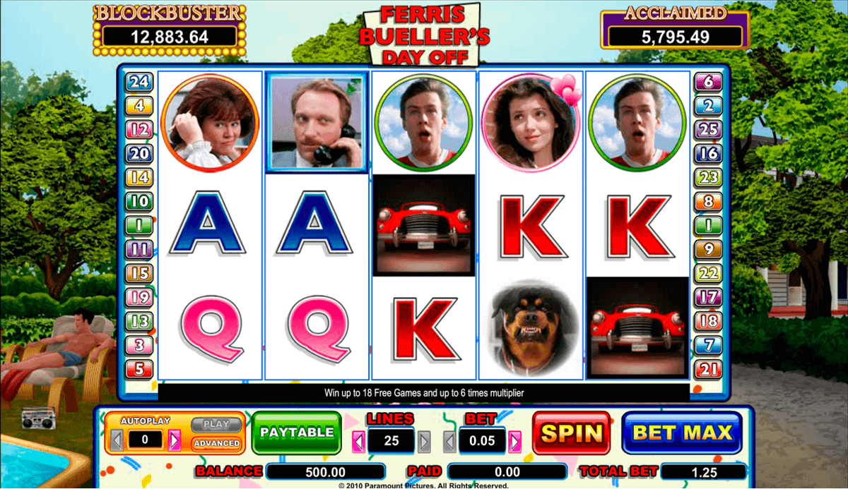 Ferris Buellers Day Off Slot Machine Online ᐈ Amaya™ Casino Slots