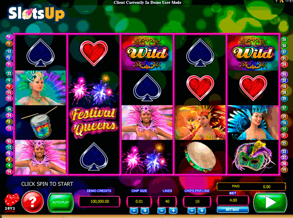 FESTIVAL QUEENS 2BY2 GAMING CASINO SLOTS