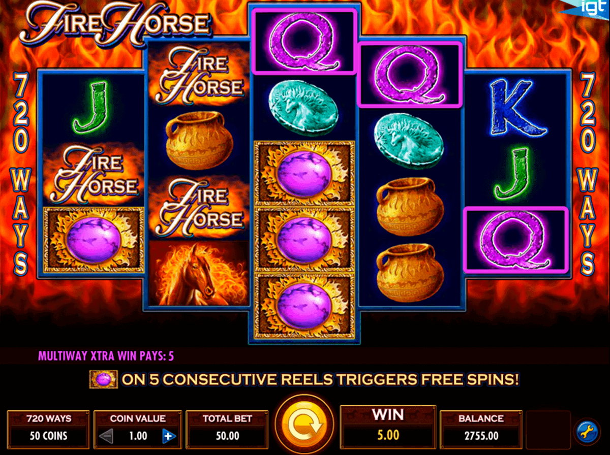 FIRE HORSE IGT CASINO SLOTS