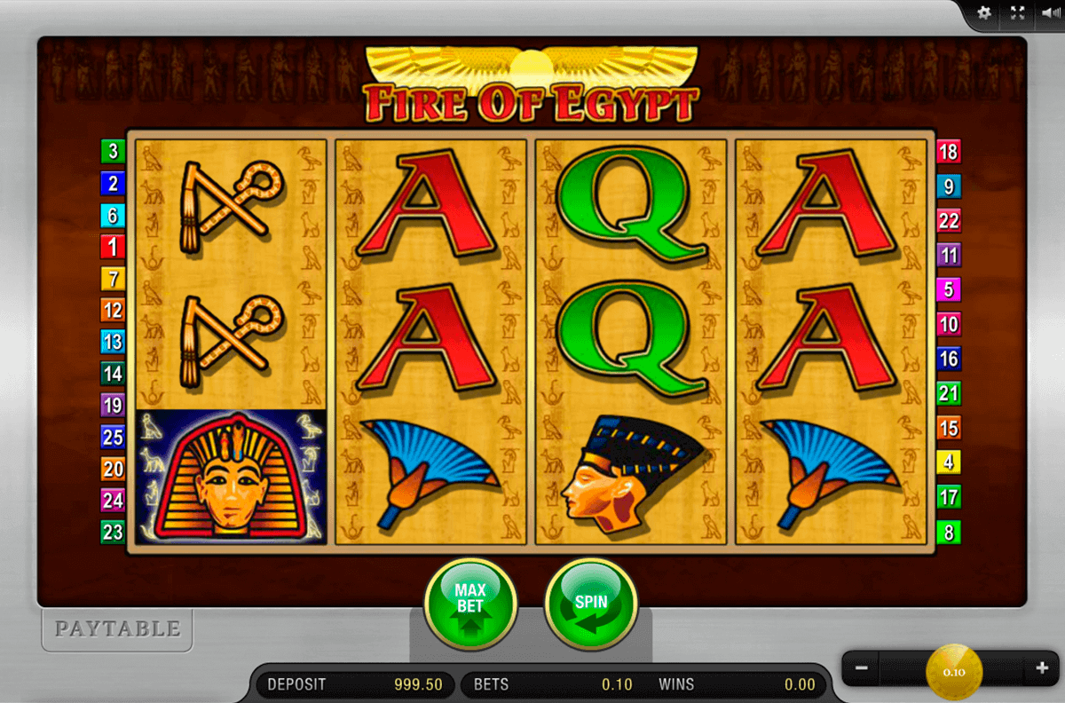 FIRE OF EGYPT MERKUR CASINO SLOTS
