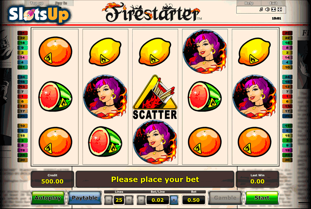 FIRESTARTER NOVOMATIC CASINO SLOTS