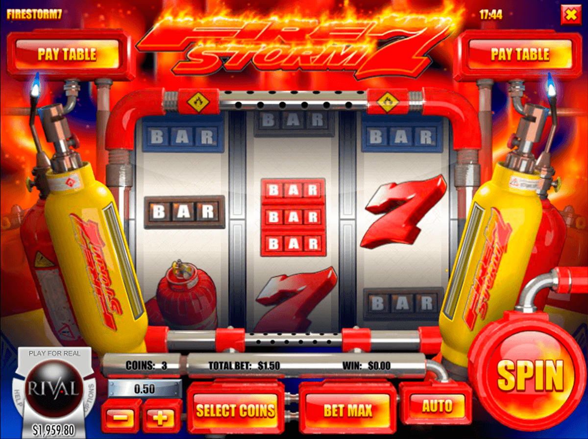 Firestorm 7™ Slot Machine Game to Play Free in Rivals Online Casinos
