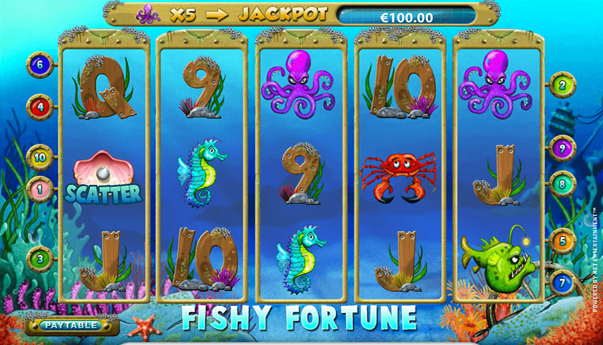 FISHY FORTUNE NETENT CASINO SLOTS