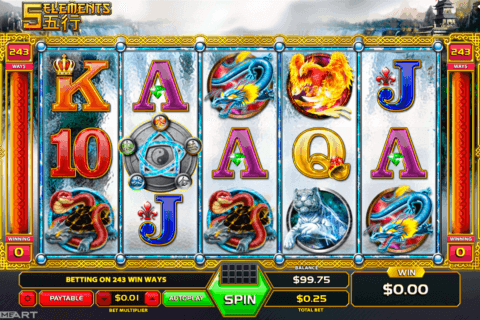 five elements gameart slot machine