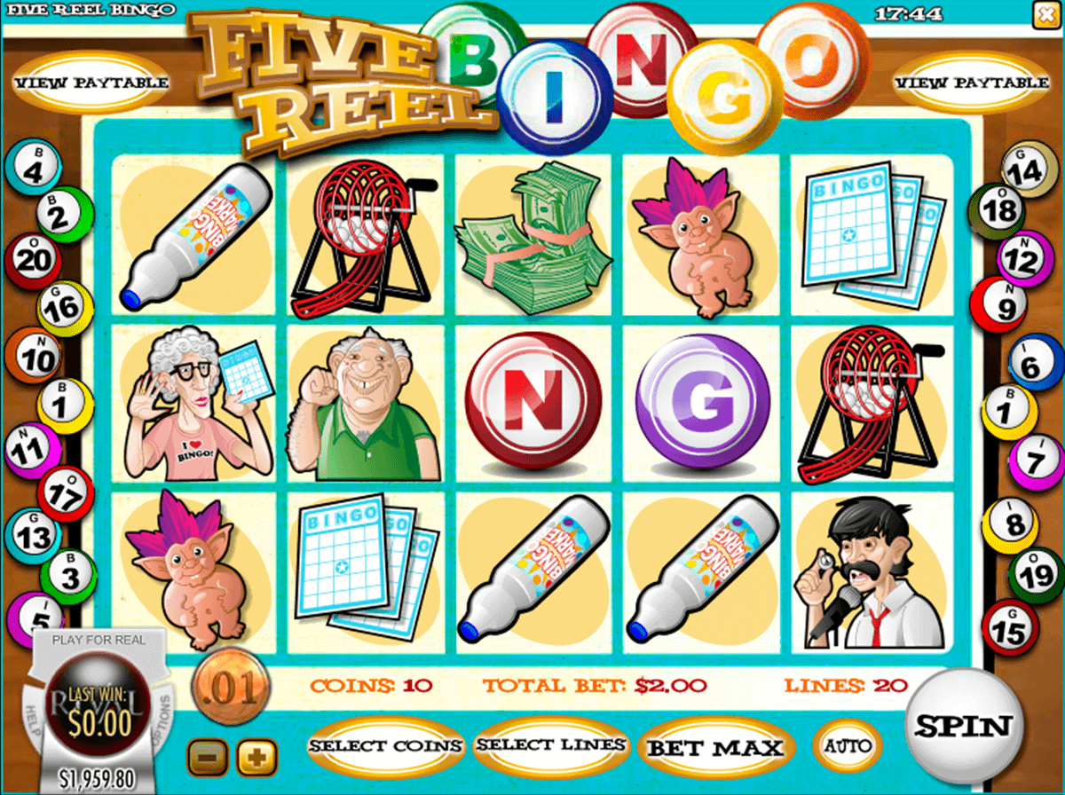 Five Reel Bingo Slot Machine - Play for Free or Real Money