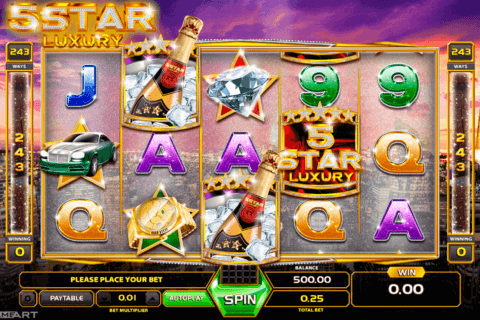 FIVE STAR LUXURY GAMEART SLOT MACHINE