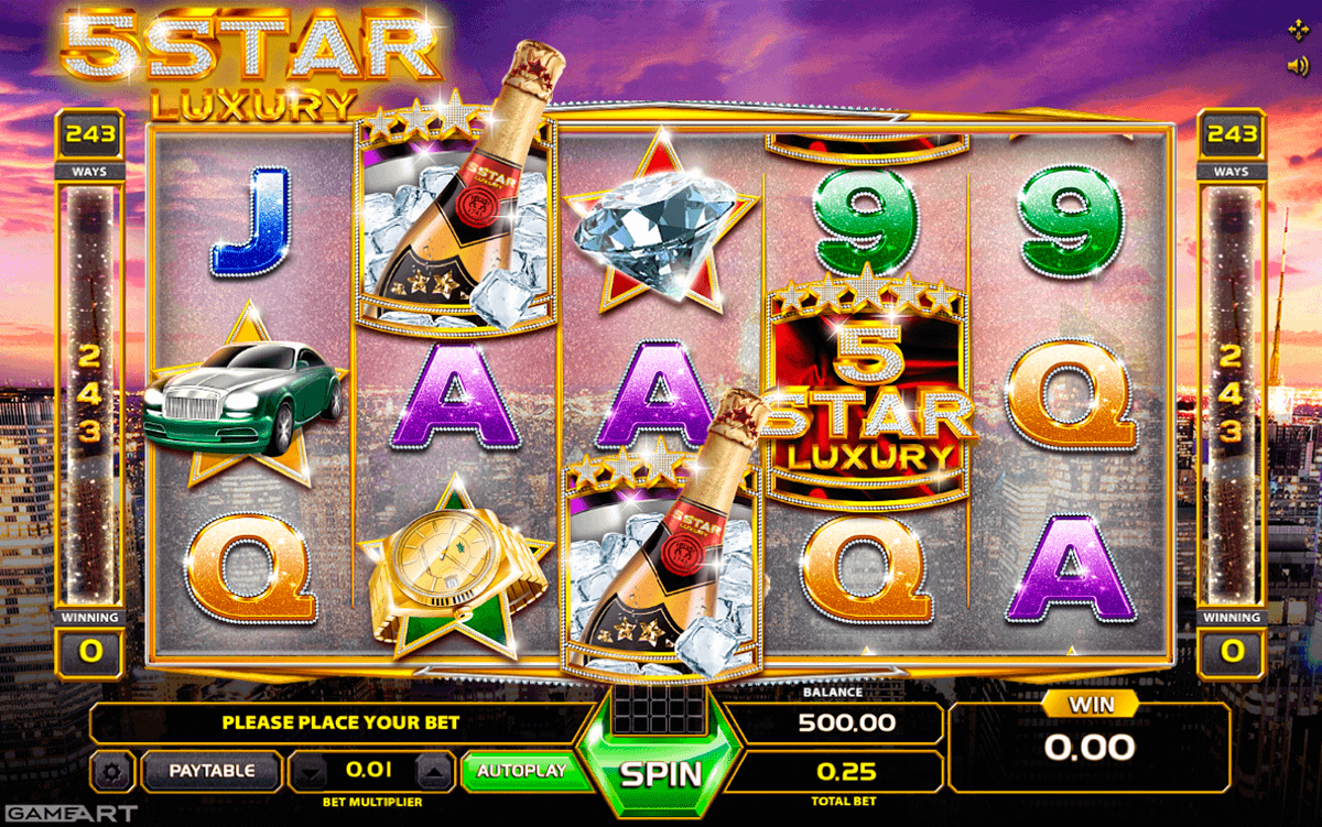 Super 5 Stars Slot Machine - Play the Online Slot for Free