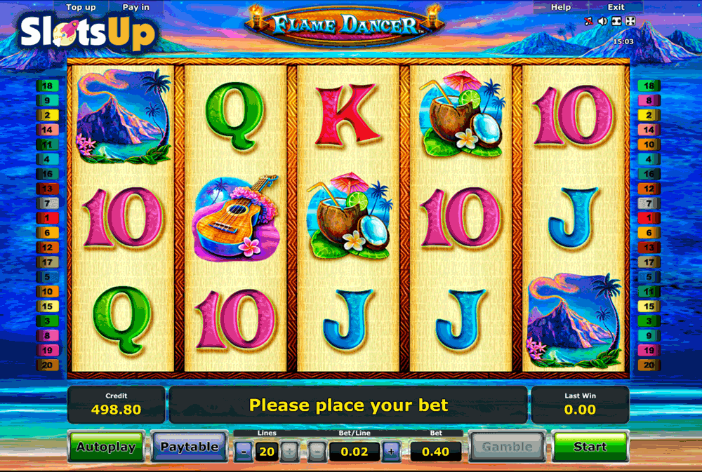 Flame Fruits Slot Machine - Play this Novomatic Game Online