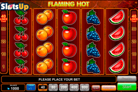flaming hot egt casino slots 480x320