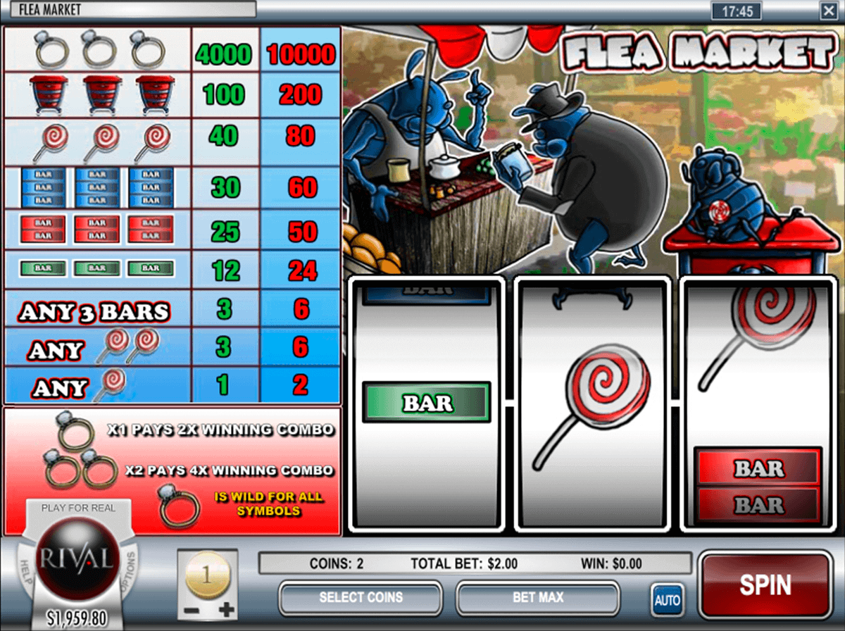 Flea Market™ Slot Machine Game to Play Free in Rivals Online Casinos