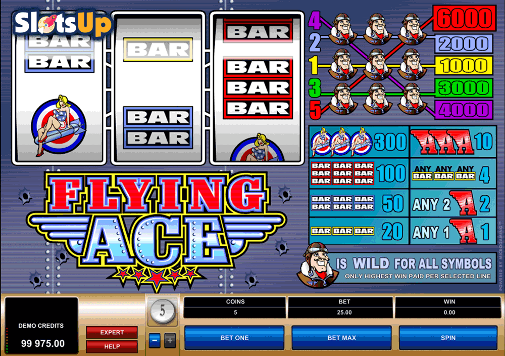 Flying Ace™ Slot Machine Game to Play Free in Microgamings Online Casinos