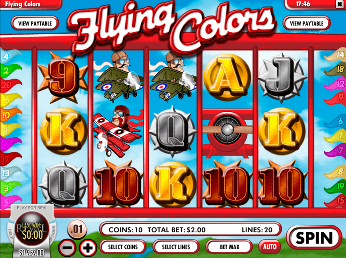 FLYING COLORS RIVAL CASINO SLOTS