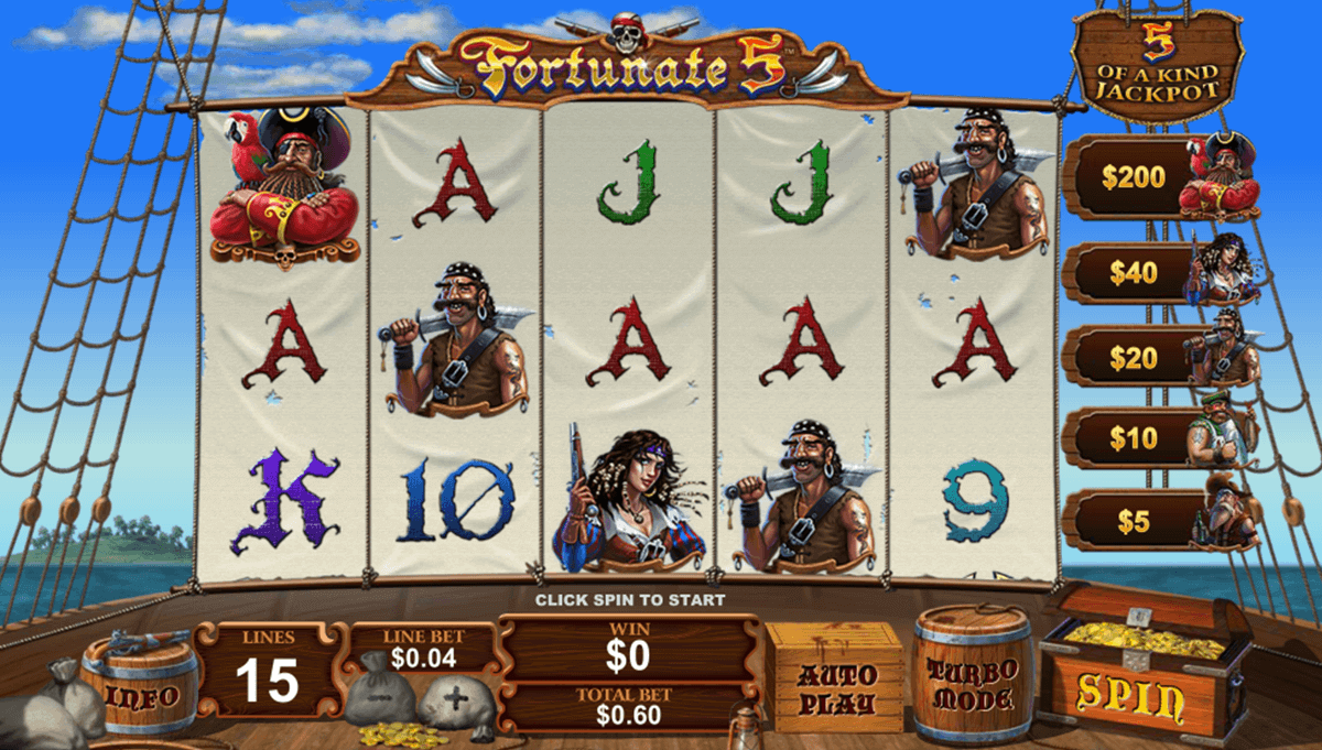 Play Fortunate 5 Online Slots at Casino.com New Zealand