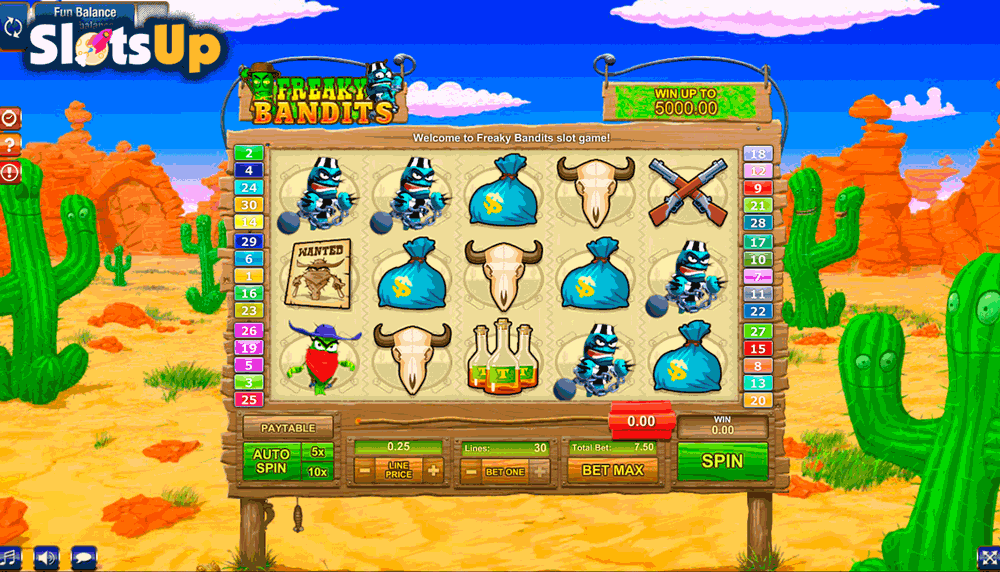 Wild Bandits Slot - Play this Video Slot Online