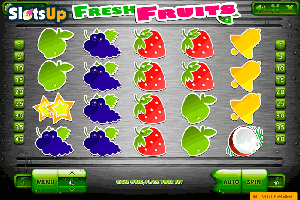 Fresh Fruits Slot - Play this Endorphina Casino Game Online