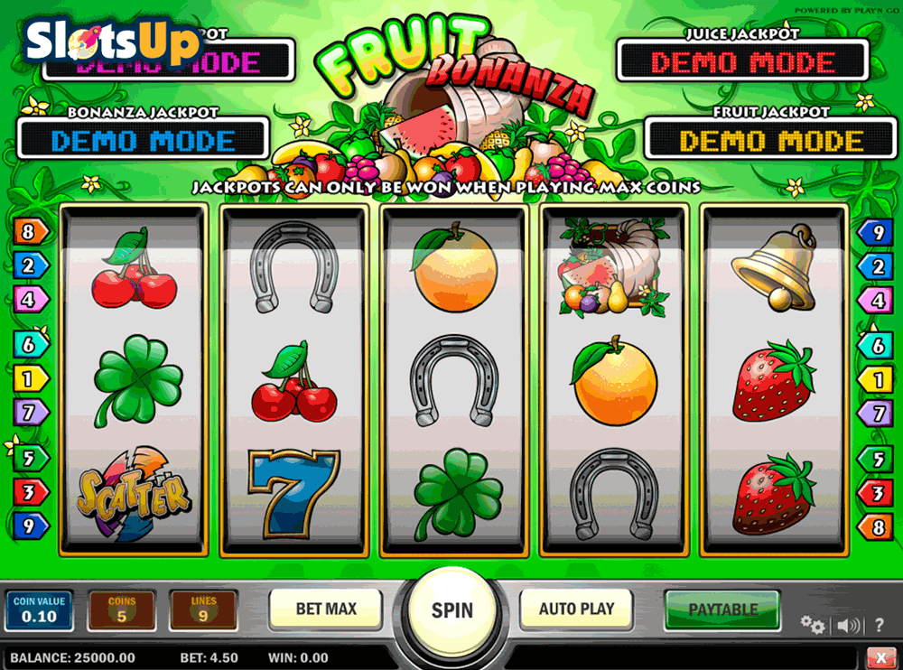 Fruit's Lines Slot Machine - Play for Free or Real Money