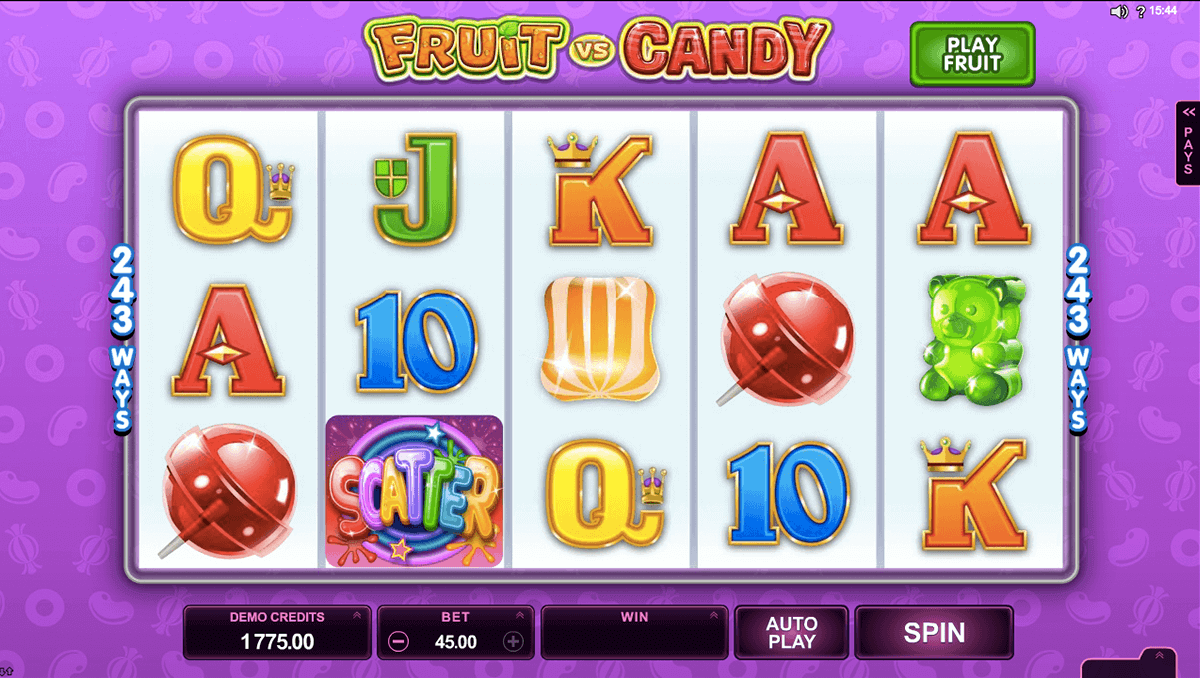 fruit vs candy microgaming casino slots