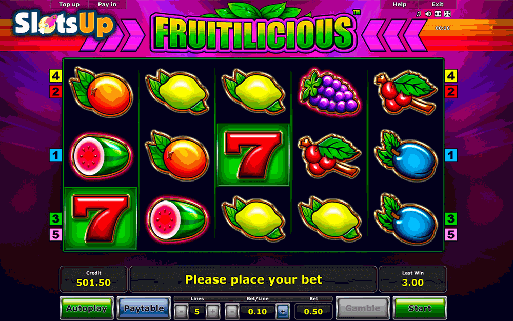 Fruitilicious Slot Machine - Free to Play Online Casino Game