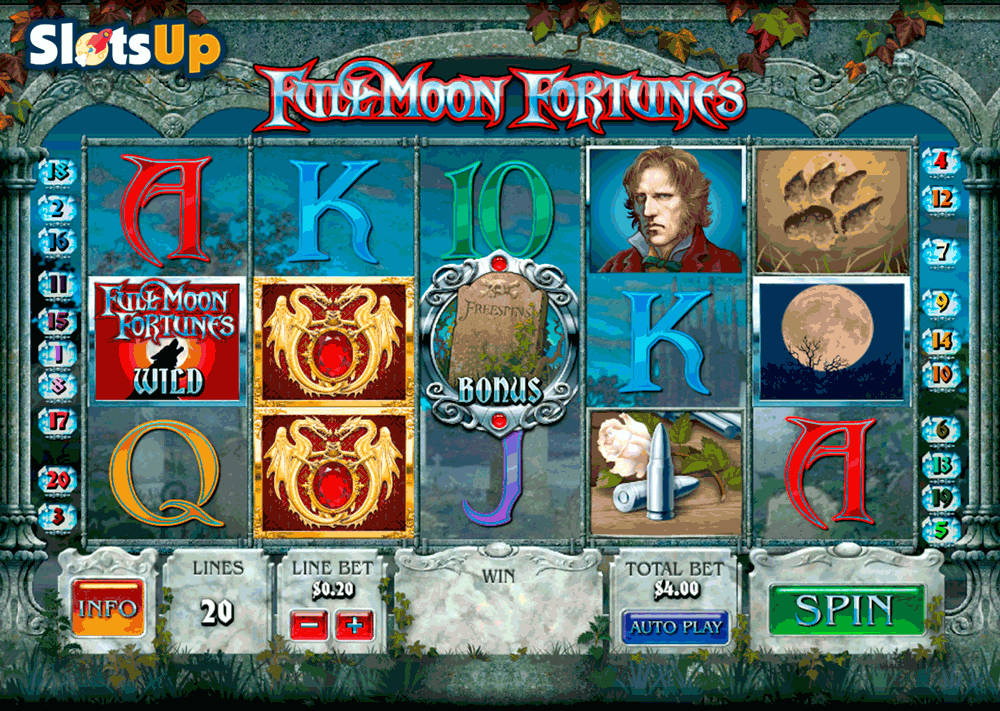 FULL MOON FORTUNES PLAYTECH CASINO SLOTS