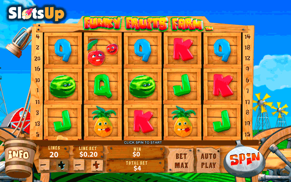 funky fruits farm playtech casino slots