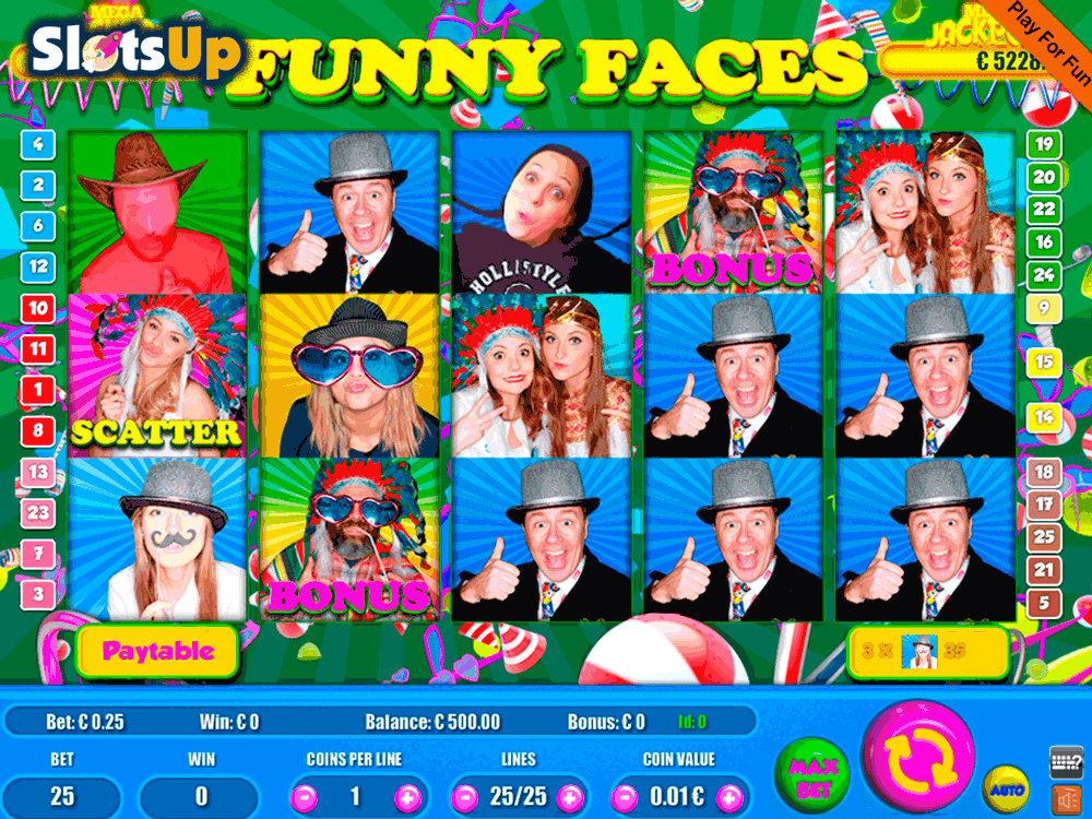 Funny Faces Slots - Play Now for Free or Real Money