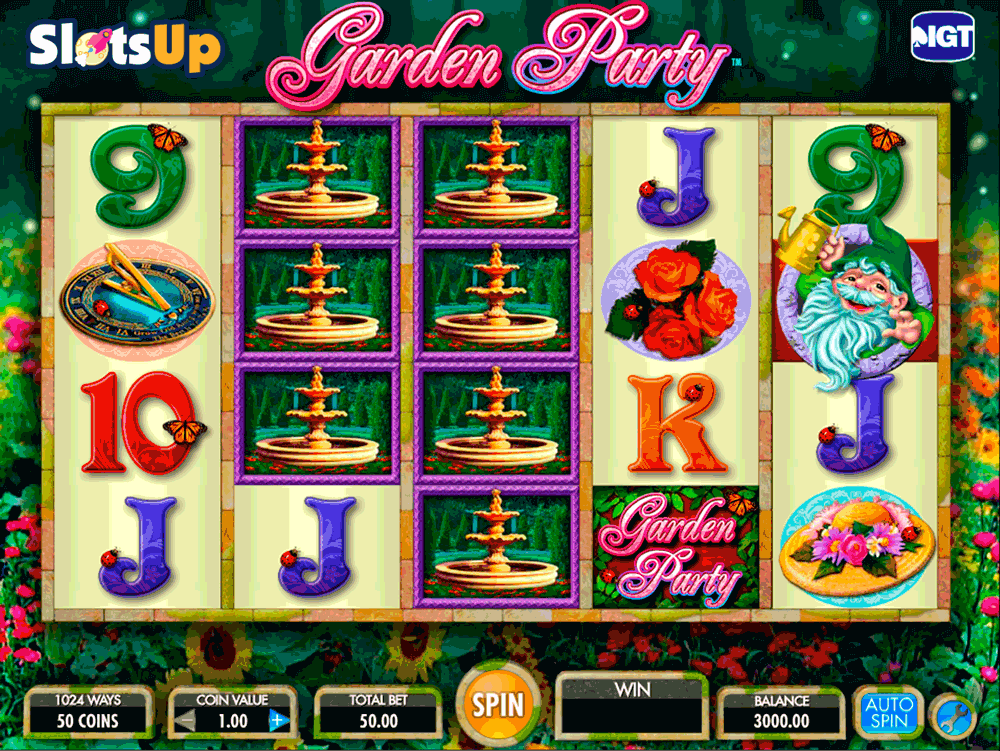 Garden Party Slot Machine - Play for Free or for Real Money
