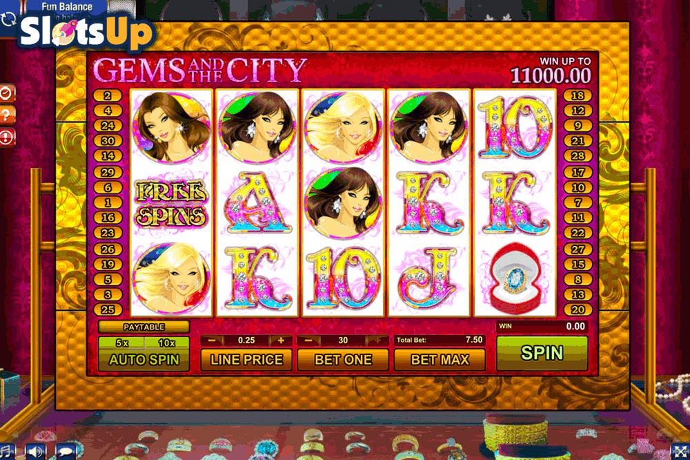 Gems of the Night Slot Machine - Play for Free or Real Money