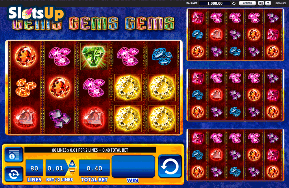 Gems Gems Gems™ Slot Machine Game to Play Free in WMS Gamings Online Casinos