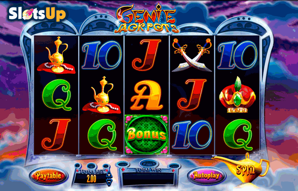Genie Jackpots™ Slot Machine Game to Play Free in AshGamings Online Casinos