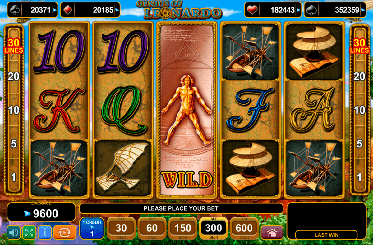 Genius of Leonardo Slot Machine - Play for Free Online