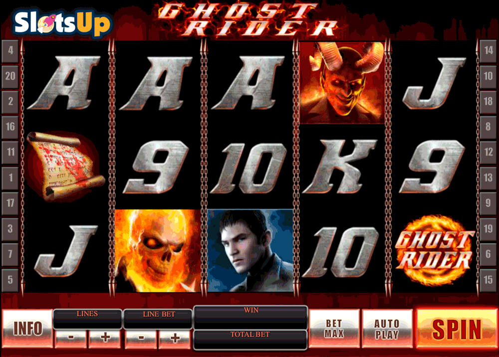 GHOST RIDER PLAYTECH CASINO SLOTS