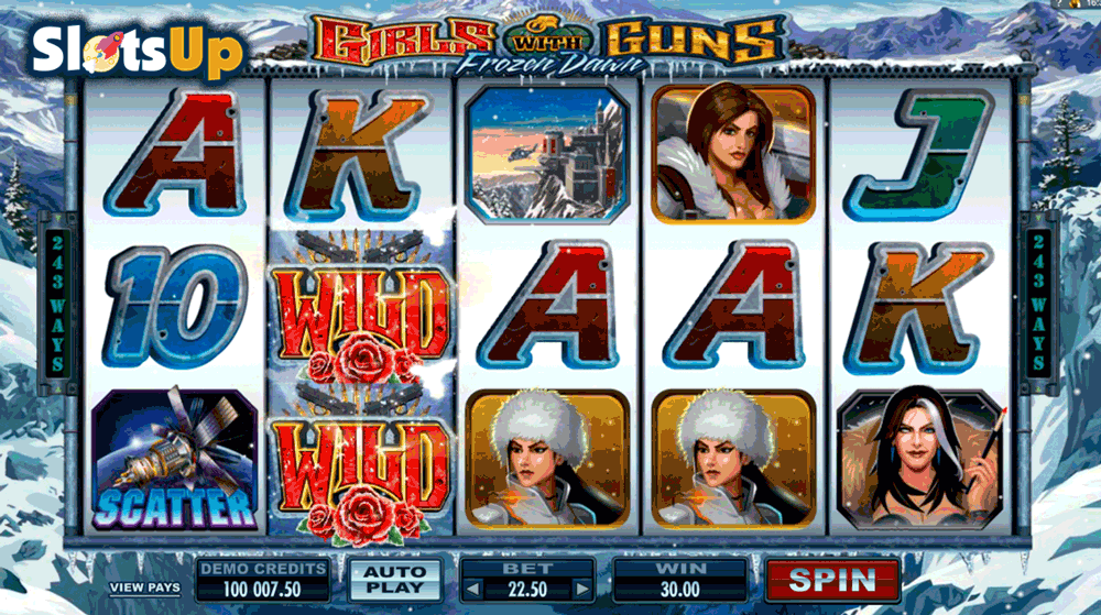 girls with guns frozen dawn microgaming casino slots