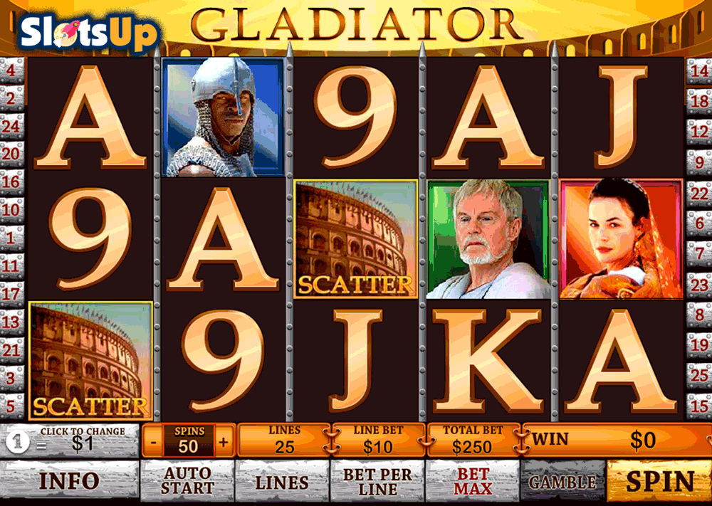 slot machine free gladiator